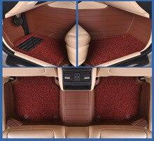 цена на Myfmat custom leather car floor mats for MITSUBISHI lancer V3/5/6 Pajero Sport Outlander Pajero V73 V77 V93 V97 top quality safe