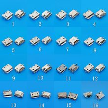 Para Mini jack microUSB conector do soquete, 5 pin Pequeno chifre de Boi 7 Pin para Samsung Huawei Lenovo telefone tablet pc Mix SMD DIP Porta V8(China)