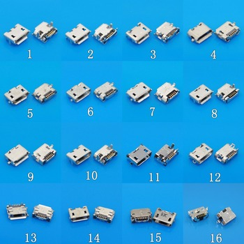 For Mini microUSB jack socket connector,5 pin Small Ox horn 7 Pin for Samsung Huawei Lenovo phone tablet pc Mix SMD DIP V8 Port image