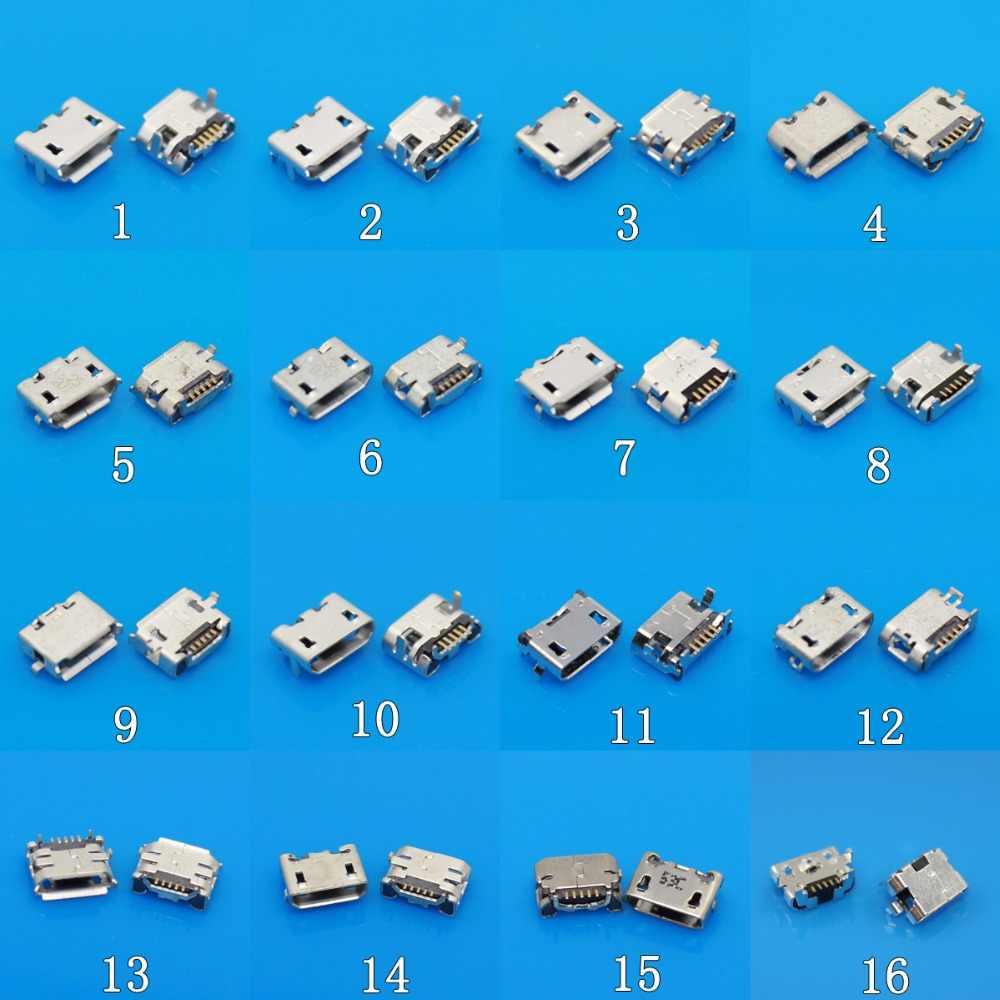 Mini microUSB jakı soketli konnektör, 5 pin küçük öküz boynuz 7 Pin Samsung Huawei Lenovo tablet telefon pc Mix SMD DIP V8 Port