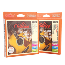 купить Wholesale 12 sets/lot Alice AW436 Acoustic Guitar Strings 6-string Set Concert Strings Multi Tension for Option дешево
