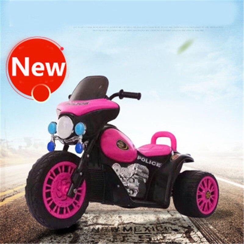 Moto électrique enfant Tricycle bébé tout-terrain moto tour sur voitures jouets pour garçon fille âgé de 3-6 ans dans les Sports de plein air