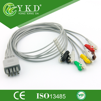 Nihon Kohden ECG leadwires set-group 6 leads IEC with clip 8pin