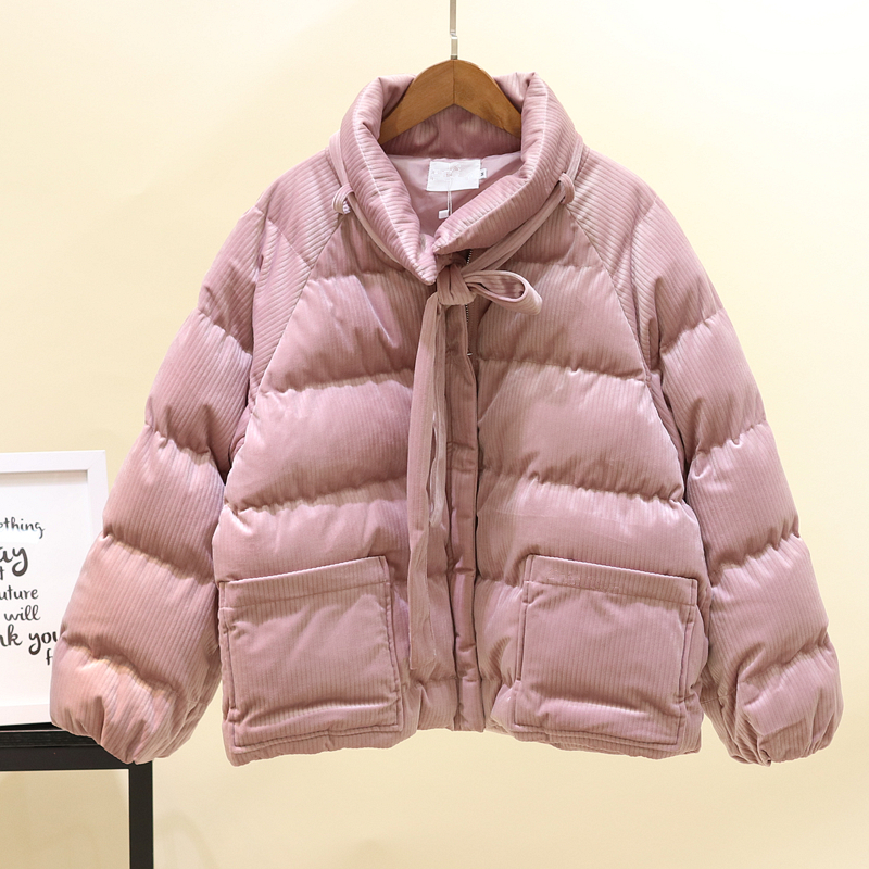 Winter   Down     Coat   Women Corduroy Thick Short   Down   Cotton Padded   Coat   Loose Warm Parka   Coat     Down   Jacket Women Outwear High Quality