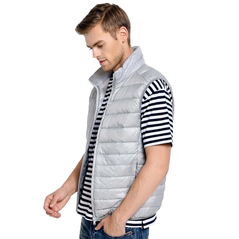 Image 5 - 2019 New Arrival Brand Men Sleeveless Jacket Winter Ultralight White Duck Down Vest Male Slim Vest Mens Windproof Warm Waistcoat-in Vests & Waistcoats from Men's Clothing