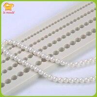 Perle décoratif moule tournant sucre moule en silicone de qualité alimentaire silicone sec Pei Si silicone moule 4 l'assemblée perle chaîne perlée