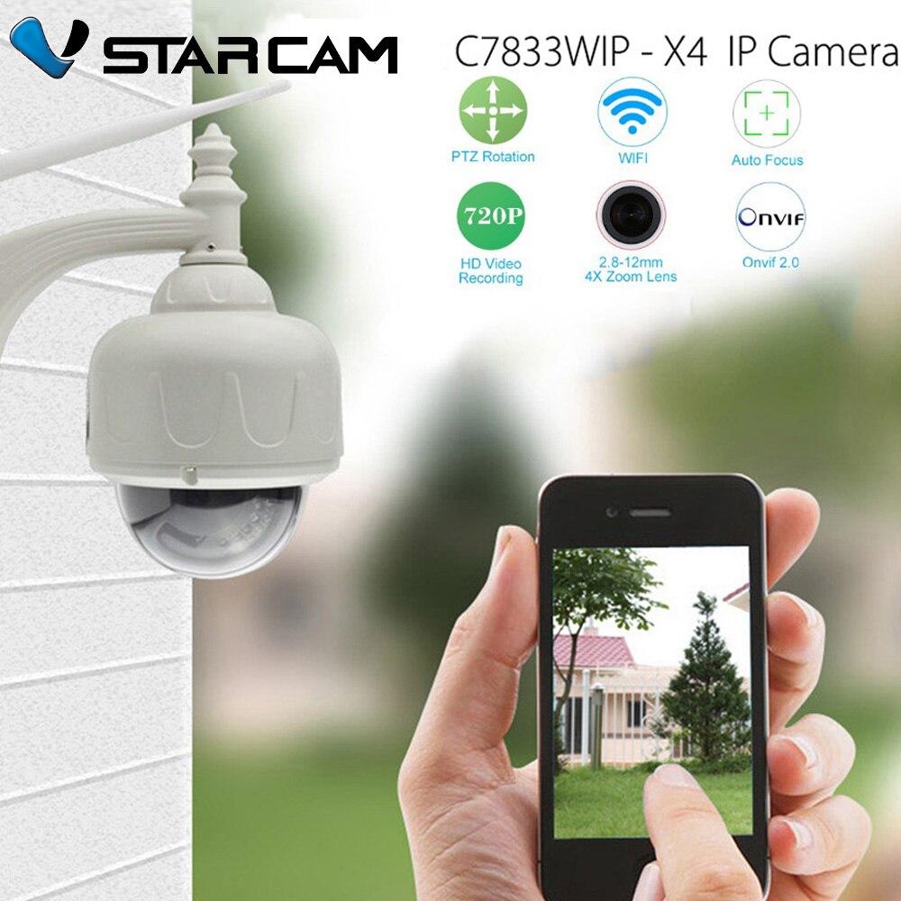 bilder für Vstarcam c7833wip 4 xzoom outdoor 720 hd h.264 kompressionsformat p2p-technologie 1mp ptz optisches 4x zoom netzwerk dome kamera