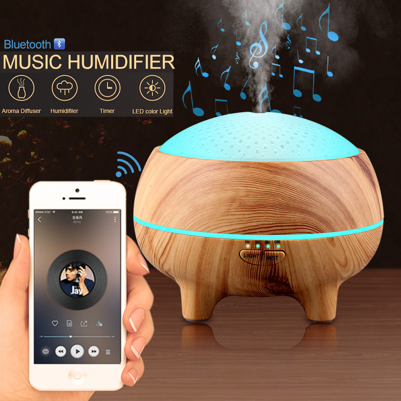 300ml Aroma Essential Oil Diffuser Bluetooth Music Speaker Ultrasonic Air Humidifier 15 Colors Changing LED Lights US EU UK AU300ml Aroma Essential Oil Diffuser Bluetooth Music Speaker Ultrasonic Air Humidifier 15 Colors Changing LED Lights US EU UK AU