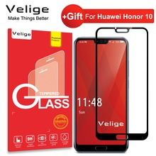 цена на Velige 2.5D Full Cover Tempered Glass for Huawei Honor 10 Honor10 Screen Protector Ultra Thin HD Clarity Safety Glass Film