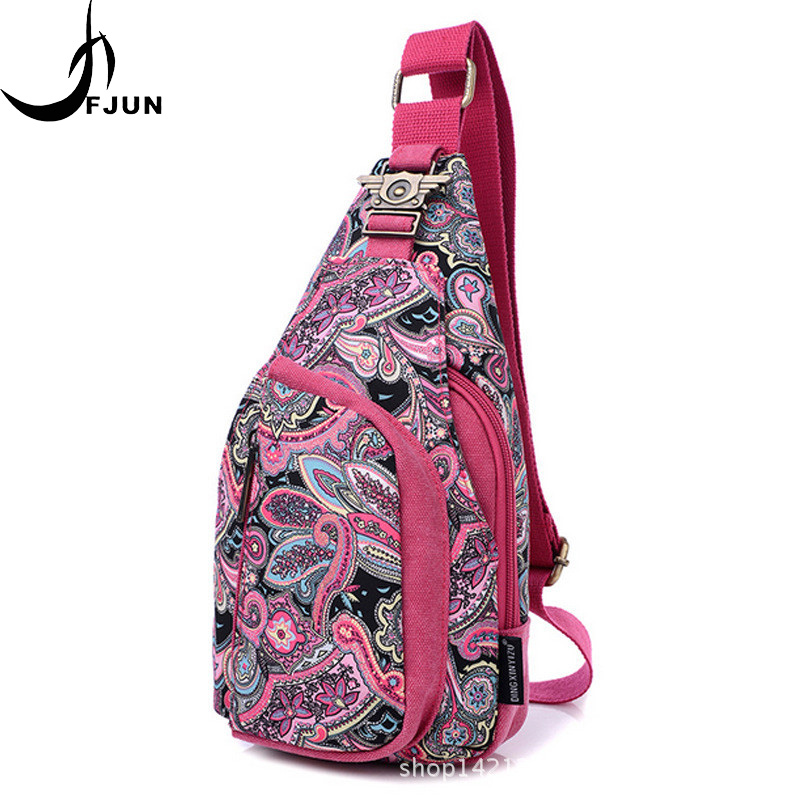 2018 FJUN Brand Candy Color Breast Bag Canvas Crossbody Single-shoulder Bags For Women Outdoor Sports Bag Femal BZ10