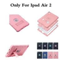 3 em 1 Híbrido Plastic + Silicon Voltar Heavy Duty À Prova de Choque Dual Layer robusto Armadura Caso Capa Para O Ar iPad 2 Ar2 Safe Kids 9.7''