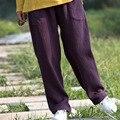Female Pants 2016 New Style Pantalon Femme  Elastic Waist Loose Plus Dize Trousers Straight Pants Tea pants