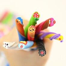 4PCS Cute Long Color Fruit Rubber Kawaii Pencil Eraser Cartoon Borracha Cut into Pieces Correction School