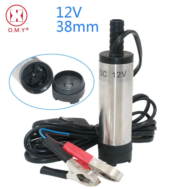 OMY 12V DC Diesel Fuel Water Oil Car Camping Fishing Submersible Transfer Pump Power tool accessories new 12v dc diesel fuel water oil car camping fishing submersible transfer pump power tool accessories color random
