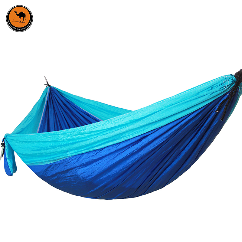 Portable Outdoor Hammocks Sports Home Travel Hang Bed Double Person Leisure travel Parachute Garden Camping Hammock portable parachute double hammock garden outdoor camping travel furniture survival hammocks swing sleeping bed for 2 person