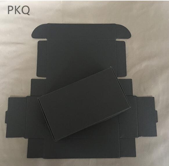130x95x30mm black kraft paper cardboard box soap paper box brown paper gift packaging box