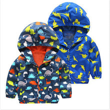 Autumn Winter Kid Boys Animal Dinosaur Infant Toddler Children Waterproof Windproof Hooded Rain Coat Jacket Outerwear Clothes