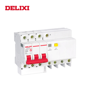 Image 5 - DELIXI CDB6iLE 4P 400V 10A 16A 32A 63A Residual current Mini Circuit breaker Overload Short Leakage protection C type curve RCBO