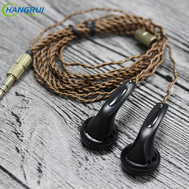 Hangrui DIY EMX500 In-ear Earphones Flat Head Plug DIY Earphone for Phone HiFi Bass Earbuds DJ Earbuds Heavy Bass Sound Quality