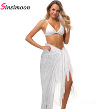 White Fringe Women Cover Up Beach Long Dress Knitting Swimwear Mesh Beach Dress Tunic Robe Coverups Fringe Bathing Suit Swimwear fringe mesh teddy