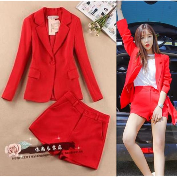 Suit shorts suit female spring and summer new Korean small suit jacket fashion casual thin section two sets of tide
