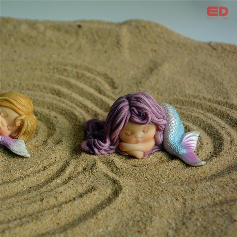 Günlük Koleksiyon Reçine Mermaid Minyatür Peri Bahçe Ev Aksesuar - Ev Dekoru - Fotoğraf 4
