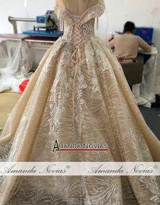 Image 3 - 2019 nuovo abito da sposa con largo della spalla cinghie robe de soiree