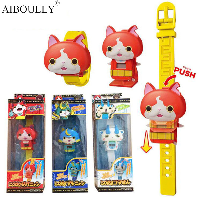 2017 Cute New Japanese Anime Yokai Watch Toys DX Yo-Kai Wrist Watch Model Kids Cosplay Toy new electronic wristband patrol dogs kids paw toys patrulla canina toys puppy patrol dogs projection plastic wrist watch toys