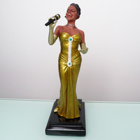 Temple painted European and American Music Star Singer Resin Figures Art Collectible Ornaments Home Bar Club Decoration