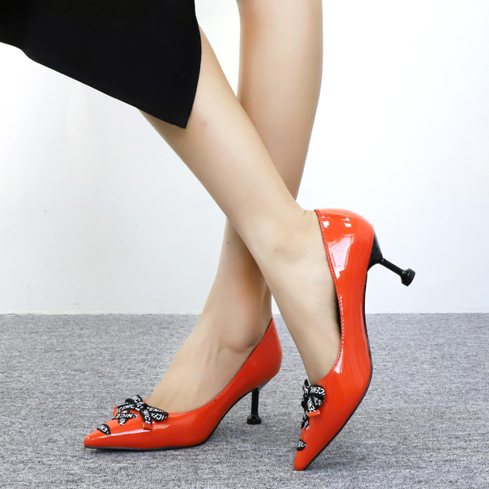 Brand Design Pointed Toe Elegant Heeled Women Shoes Slip On Dropship Bowtie Strange High Heels Shoes Woman Pumps