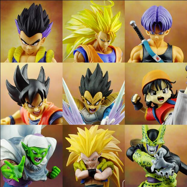 Dragon Ball Z Figure Anime Action Figure Set R Sinusoïdale Figurines cellulaire Piccolo Fils Gohan Vegeta PVC Goku Dieu Gohan Super Saiyan