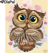DIAPAI 5D DIY Diamond Painting 100% Full Square/Round Drill Cartoon owl Diamond Embroidery Cross Stitch 3D Decor A21790 tony gunn jr the collateral soul