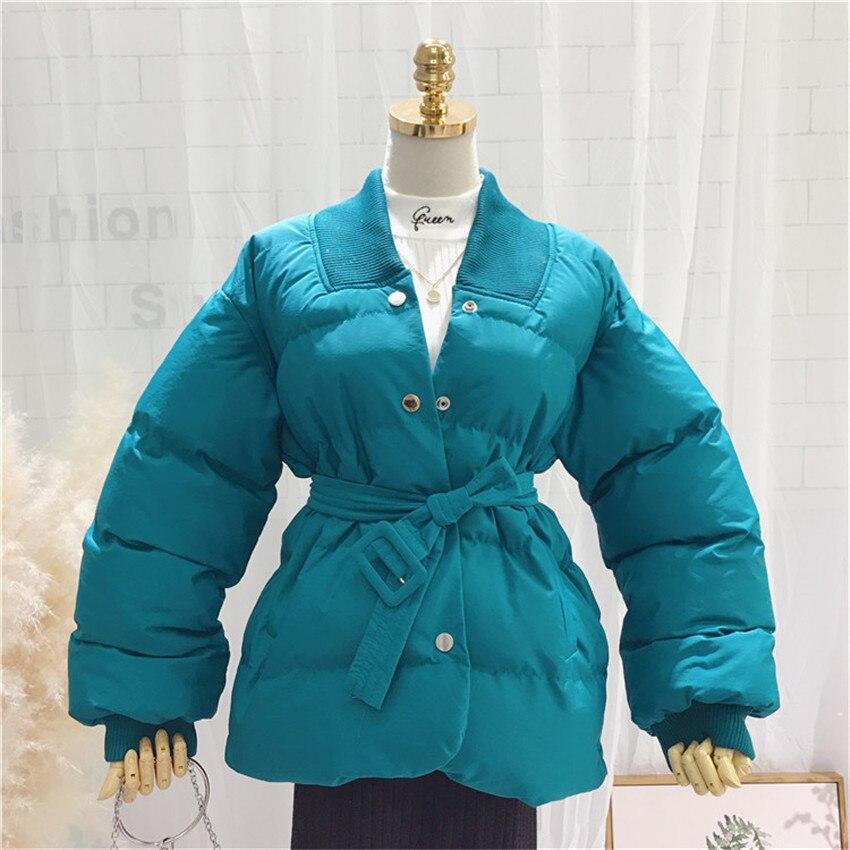 2018 Autumn Winter Warm Women Cotton Jacket Big Size Cotton-padded Coats Slim Long Sleeve Short   Parkas   Harajuku Outwear WZ622
