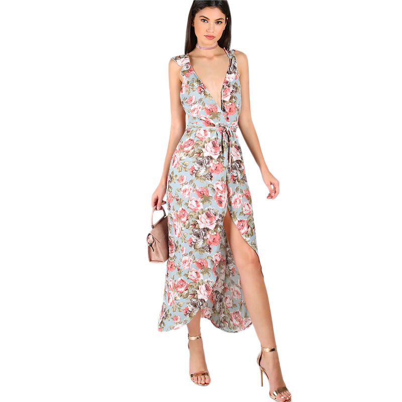 88cabea583e Detail Feedback Questions about Dotfashion Plunge Rose Print ...