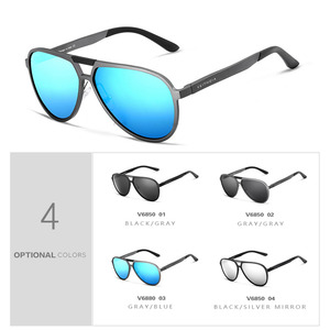 Image 4 - VEITHDIA ブランドメンズアルミマグネシウムサングラス偏光 UV400 レンズ眼鏡アクセサリー男性男性/女性 V6850