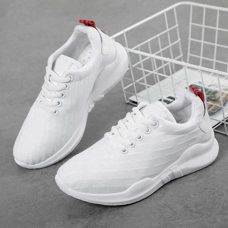 Women Shoes Flat Walking Sports Fitness Shoes Breathable Knit Platform Shoes For Women Vogue Jogging Comfortable Sneaker
