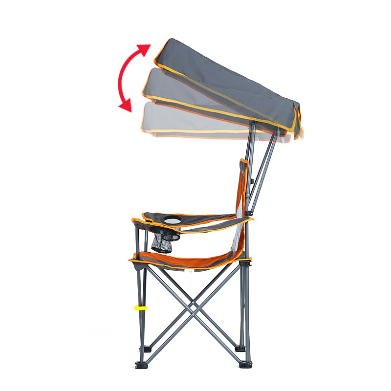 Portable Fishing Chair With Sunshade Folding For Beach Backrest Shedcamping Seat In Chairs From Sports