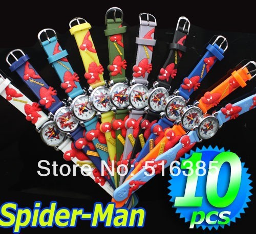 10pcs Spiderman 3D Cartoon Lovely fashion Kids Girls Boys Children Students Quar