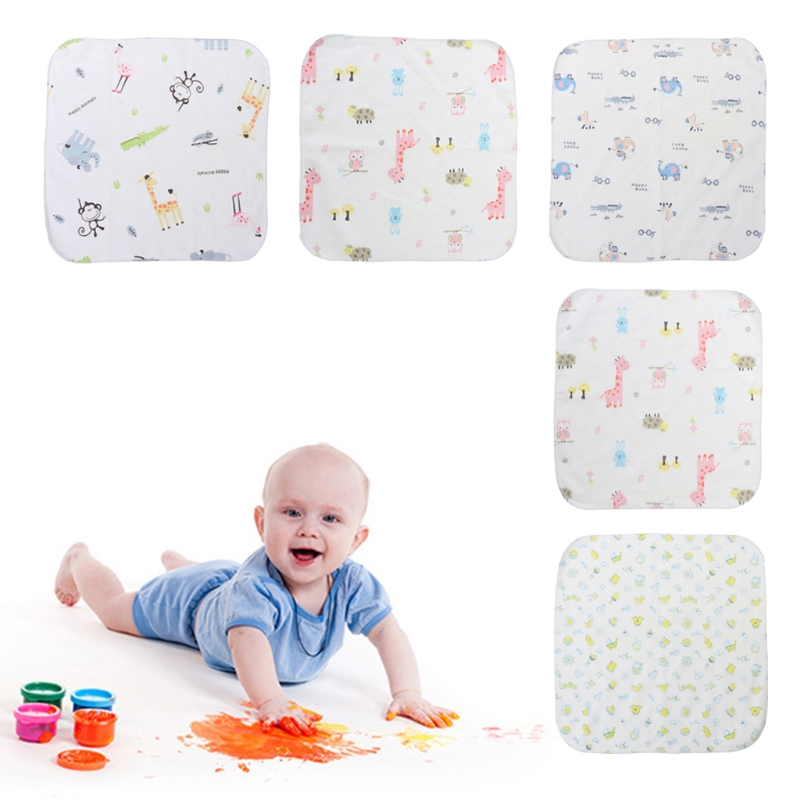 2018 Soft Infant Baby Towel 25x25cm Thin Blend Cotton Wipe Food Washing Face Square Children JUN29_17
