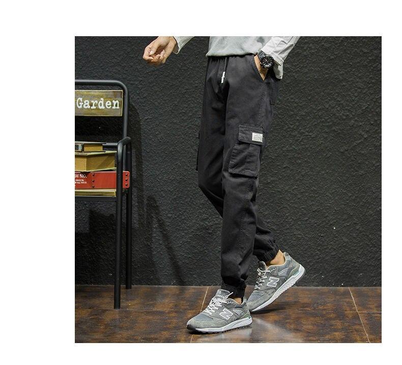 7XL Cargo Pants Men Quality Cotton Pencil Pants Male Washed Slim Fit Pants Mens Trousers Korean Brand MuLS Plus Size Casual Pant 09