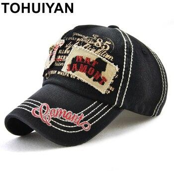 a991a4cb1b69 TOHUIYAN cráneo bordado del casquillo del Snapback del ala plana sombrero  de béisbol sombrero de Hip ...