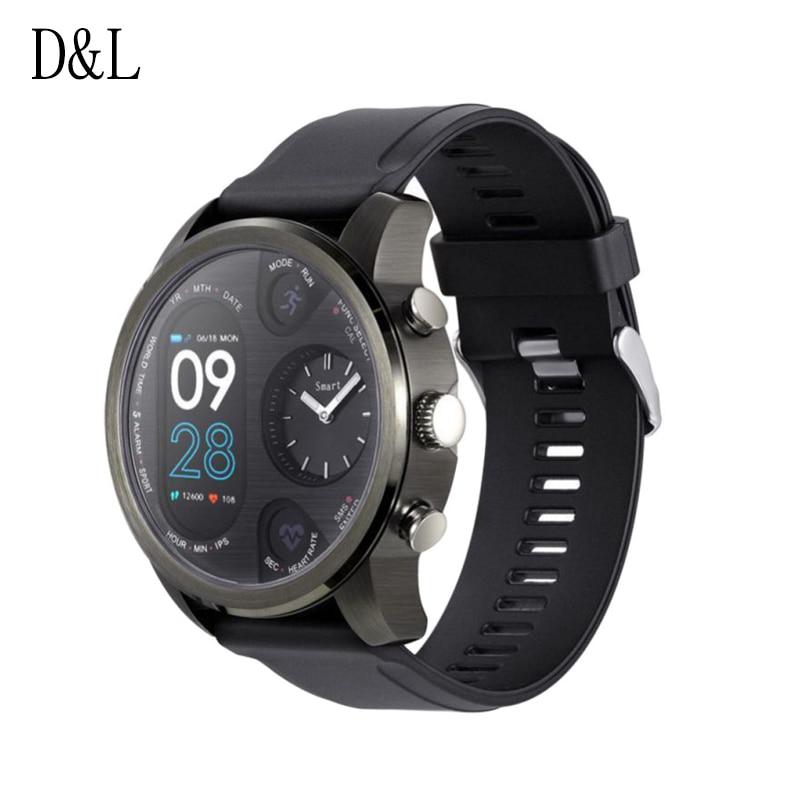 Schrittzähler GroßZüGig D & L T3 Dual Display Smart Uhr Für Männer Ip68 Wasserdichte Fitness Armband 15 Tage Standby-business-smartwatch Aktivität Tracker