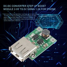 цена на DC-DC Converter Step Up Boost Module 2-5V to 5V 500mA 1.2A for iphone ALI88