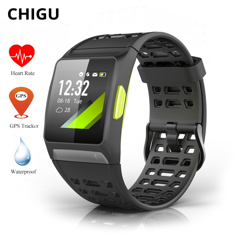 Chigu P1 GPS Smart Watch Waterproof Men Sports Watch Color Screen Heart Rate Monitor Relogio Smart Fitness Tracker Smartwatch colmi v11 smart watch ip67 waterproof tempered glass activity fitness tracker heart rate monitor brim men women smartwatch