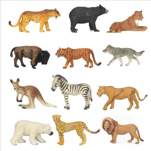 Wolf Family Toy : New animal family pack simulation model animals kids toys