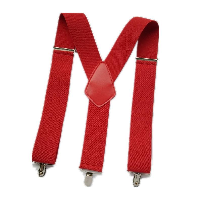 BD069-Big Size Men suspenders strong 3 clips Suspender 5cm Width Leather suspender Worker Braces