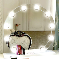 YWXLight USB Charging Port 10 LEDs 12 LEDs Lighted Makeup Mirror Vanity LED Light Bulbs Dimmable for Dressing Table Lamp