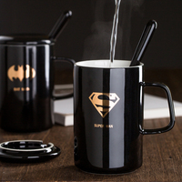Marvel's The Avengers Captain America Spider Man Hulk Cosplay Mug Coffee With Cover Spoon Tea Cup Men Women Daily Ceramic Cup