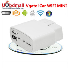 Free Shipping Original Vgate iCar ELM327 WIFI OBD OBD2 Code Reader ICAR elm327 WIFI escaner automotriz For Android/IOS Phone