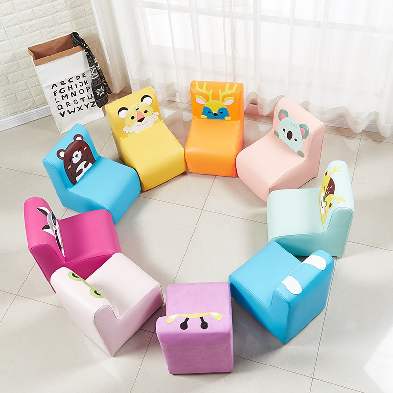 Children's Back Sofa Kindergarten Baby Chair Cartoon Sofa Stool Cute Solid Wood Stool Nordic Good Quality